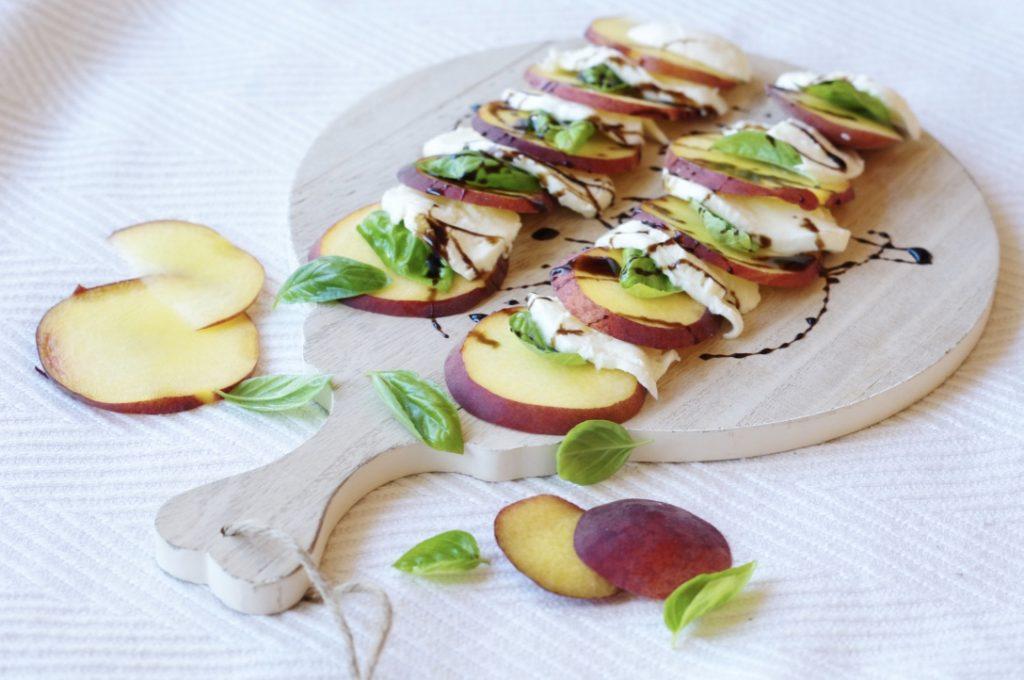 piecesofmara-peach-caprese-salad