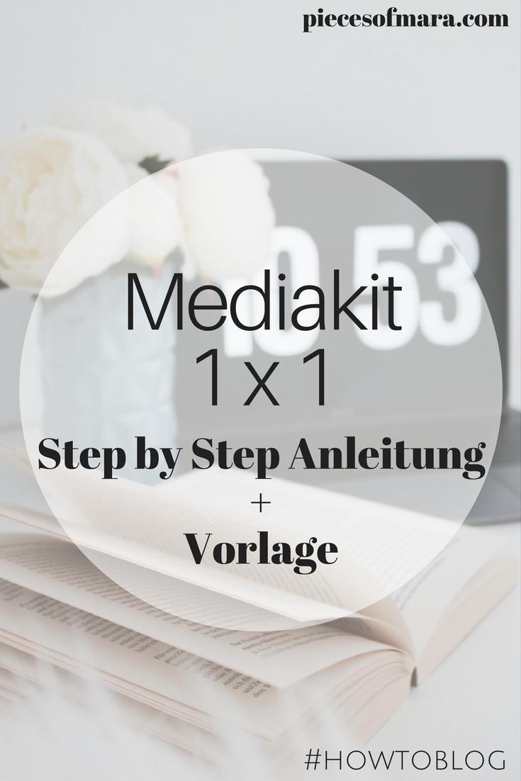 Was muss in ein Mediakit? + Vorlage #howtoblog