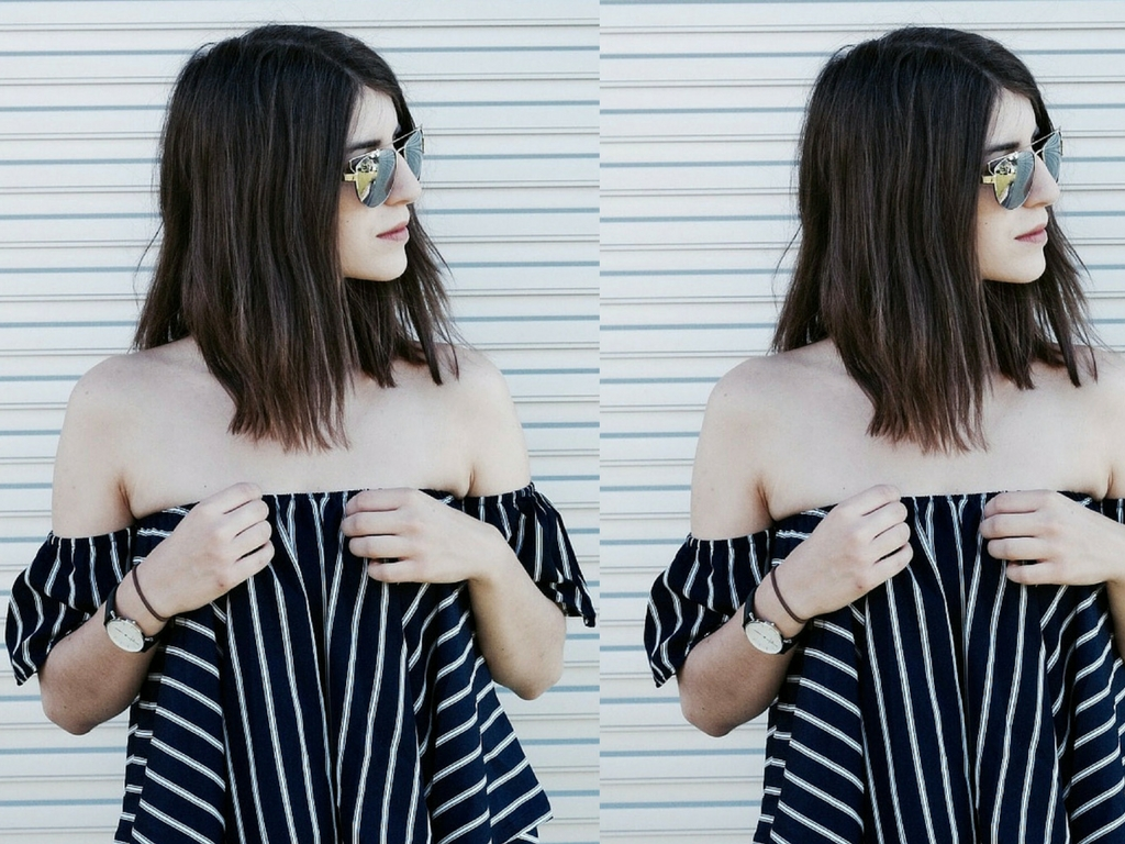 Off-Shoulder and Stripes