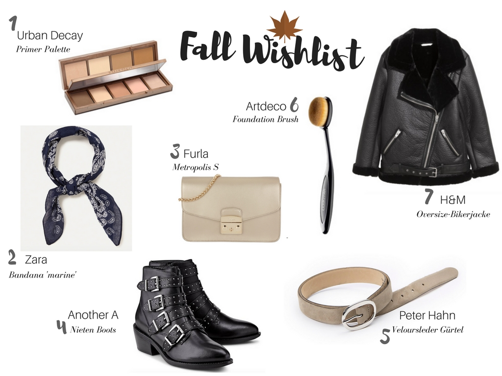 Current Wishlist: Fall Edition
