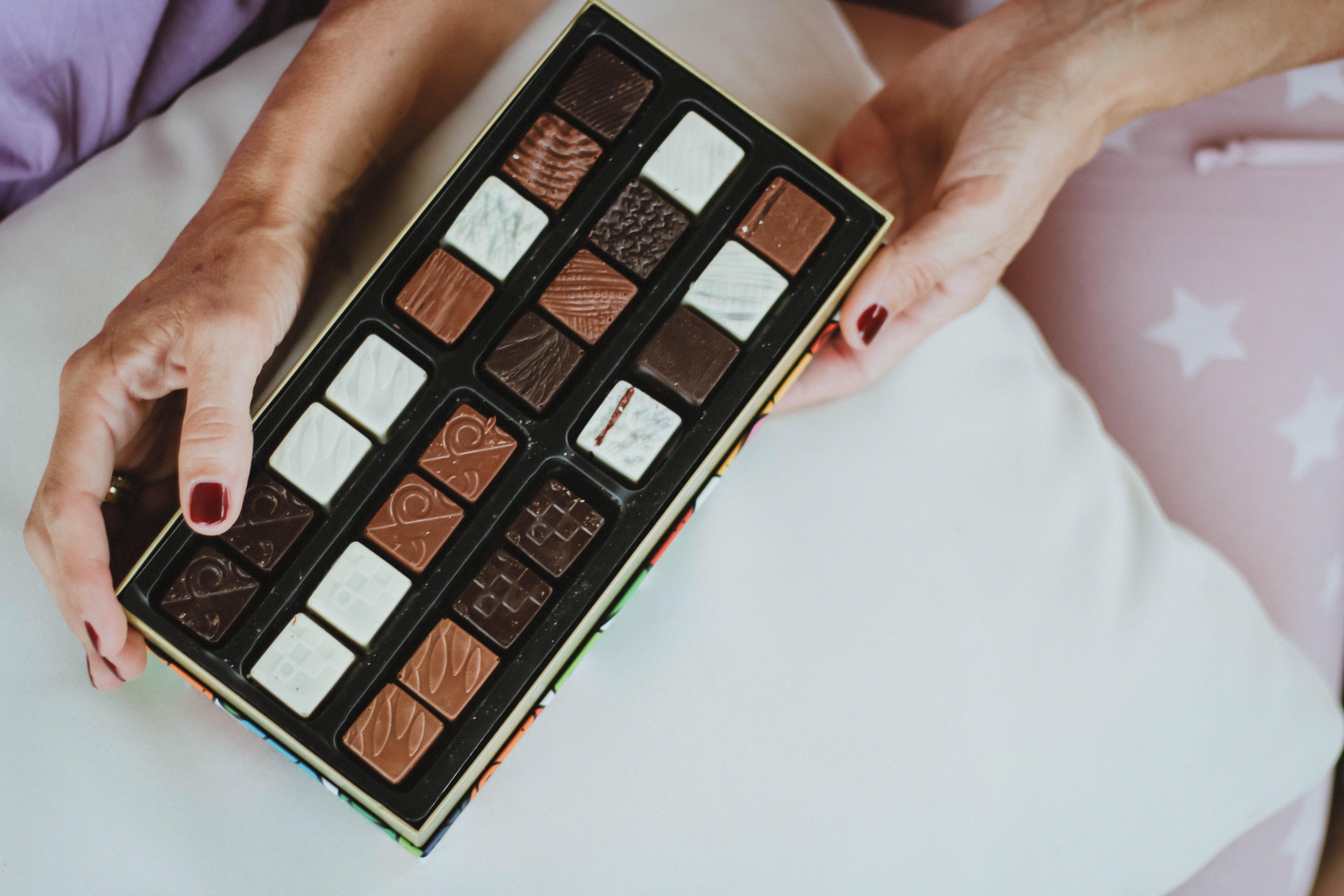 DIY mit Pralinenschachtel von Planète Chocolat